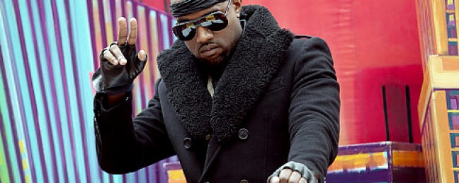 Kanye West at the Macy's Thanksgiving Day Parade