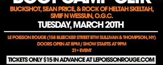 Boot Camp Clik Tonight @ Le Poisson Rouge, NYC [LIVE]