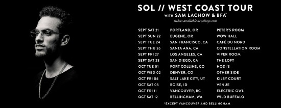 Sam Lachow On Tour with Sol [SCHEDULE]