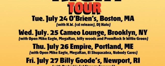 "ADAM x Mo Niklz x Brzowski ""Them Boyz Ain't Right Tour"" feat. Open Mike Eagle, MegaRan & More"